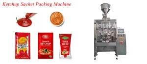 single lane 3 sides or 4 sides sealing tomato paste sachet packing machine