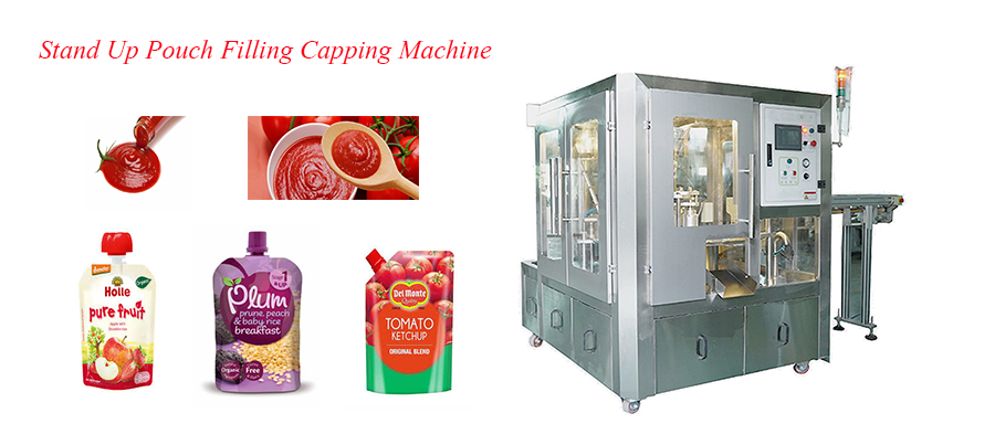 Spout Stand-up Pouch Filling Capping Machine for Ketchup Featured Image