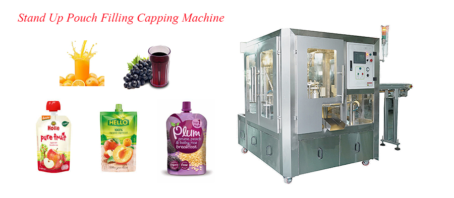 BRS-4S Stand Up Pouch Filling And Capping Machine