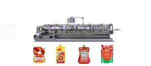 Doypack With Spout Pouch Packing Machine For Tomato Paste