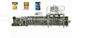fruit chips zipper bag packing machine