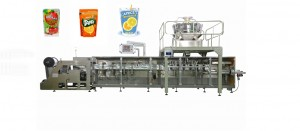 horizontal zipper stand up bag nut packing machine for cashew chestnut groundnut