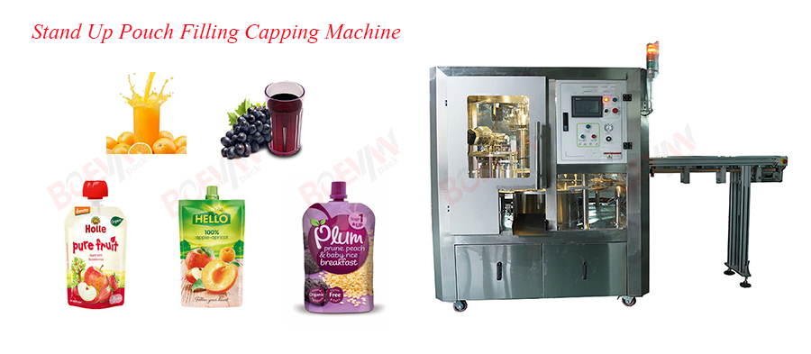 Spout Stand-up Pouch Filling Capping Machine for Juice Featured Image