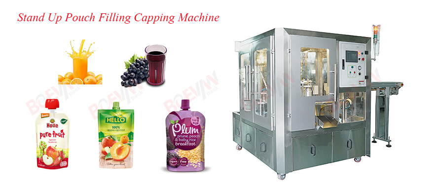 BRS-4S Spout Stand-up Pouch Filling Capping Machine Featured Image