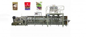 mix nut stand up zipper bag packing machine