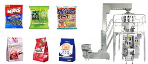 snacks pillow/Gusset Bag Packing Machine With Multi Weigher